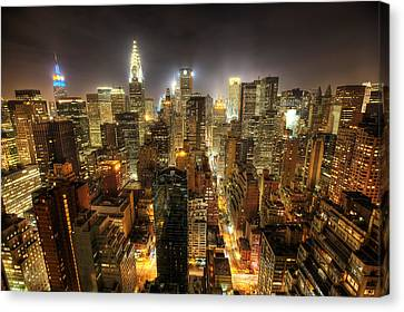 New York City Night Canvas Print by Shawn Everhart