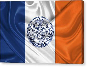Times Square Canvas Print - New York City - Nyc Flag by Serge Averbukh