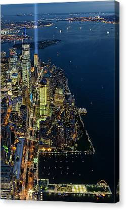 Canvas Print featuring the photograph New York City Remembers 911 by Susan Candelario