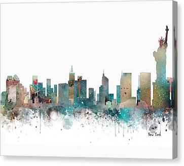 New York City Skyline Canvas Print by Bri B