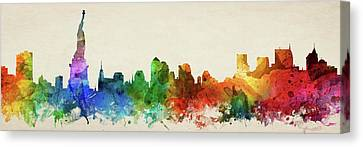 New York City Skyline Panorama Usnyny-pa03 Canvas Print