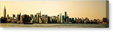 New York City Skyline Panorama Canvas Print by Vivienne Gucwa