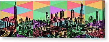New York City Skyline Rainbow Canvas Print
