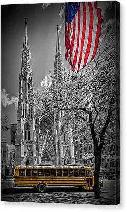 Historic Street Canvas Print - New York City St. Patrick's Cathedral by Melanie Viola