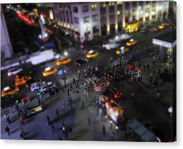 New York City Street Miniature Canvas Print by Nicklas Gustafsson