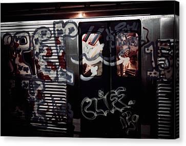 New York City Subway. A Subway Car Canvas Print by Everett