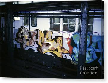 New York City Subway Graffiti Canvas Print
