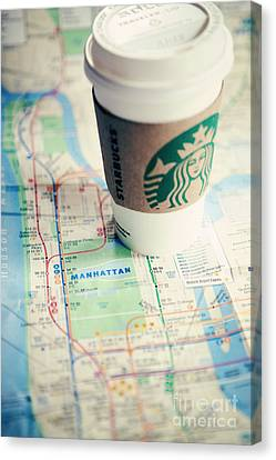 New York City Subway Map Canvas Print by Kim Fearheiley
