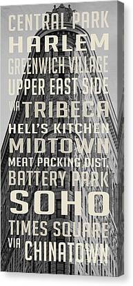 New York City Subway Stops Flat Iron Building Canvas Print