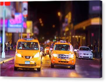 New York City Taxi Canvas Print by Mark Andrew Thomas