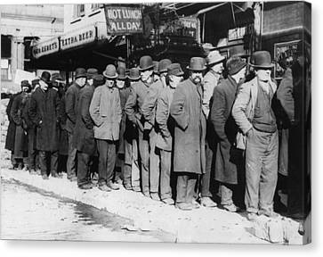 Bowery Canvas Print - New York City, The Bowery, Men Waiting by Everett