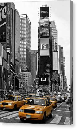 Yellow Building Canvas Print - New York City Times Square  by Melanie Viola
