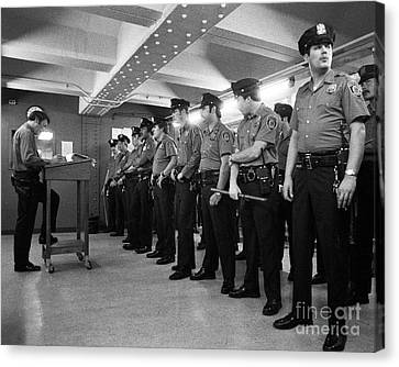 Law Enforcement Canvas Print - New York City Transit Police 1978 by The Harrington Collection