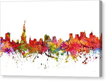 New York Cityscape 08 Canvas Print by Aged Pixel