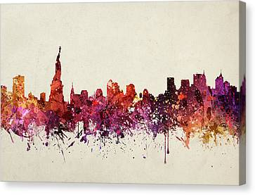 New York Cityscape 09 Canvas Print by Aged Pixel