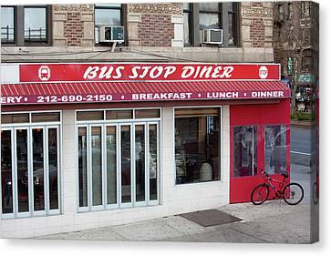 New York Diner Canvas Print by Art Block Collections