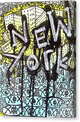 New York Graffiti Scene Canvas Print