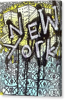 New York Graffiti Scene Canvas Print by Robert Wolverton Jr