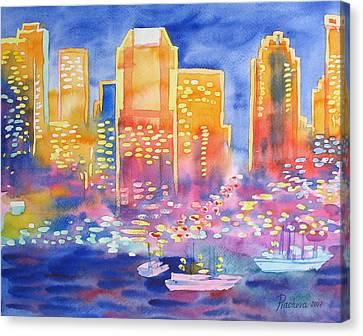 New York Great City Silhouettes.2007 Canvas Print by Natalia Piacheva