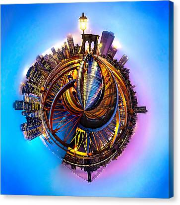 Long Street Canvas Print - New York Heartbeat by Az Jackson