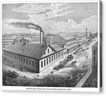 New York: Iron Works, 1876 Canvas Print by Granger