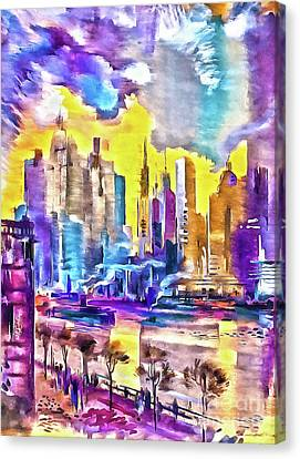 New York Is The City's Colorful Canvas Print