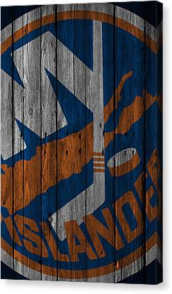 New York Islanders Wood Fence Canvas Print by Joe Hamilton