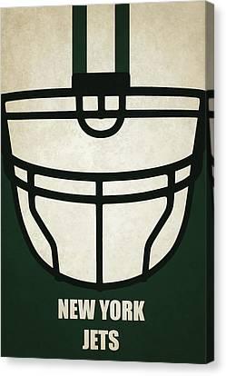 New York Jets Helmet Art Canvas Print by Joe Hamilton
