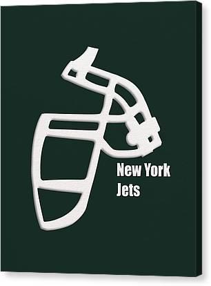 New York Jets Retro Canvas Print by Joe Hamilton