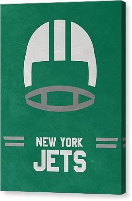 New York Jets Vintage Art Canvas Print by Joe Hamilton