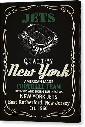 New York Jets Whiskey Canvas Print by Joe Hamilton