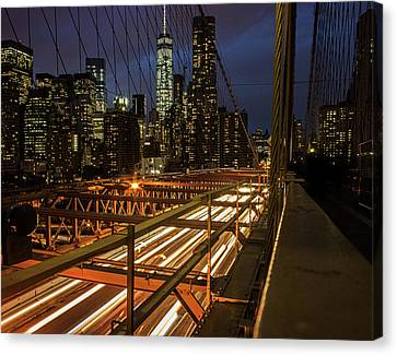 New York Lights Canvas Print by Martin Newman