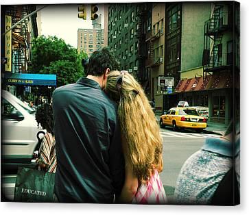 Canvas Print featuring the photograph New York Love Affair by Micki Findlay