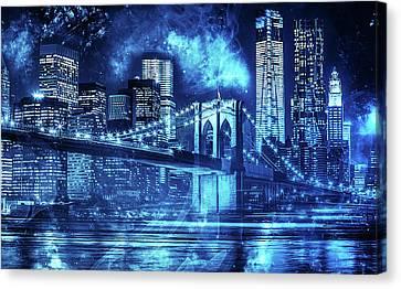New York, Manhattan Bridge - 02 Canvas Print