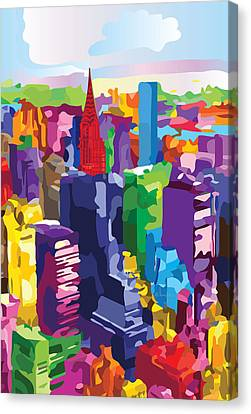 New York, Manhattan Canvas Print by Inge Lewis