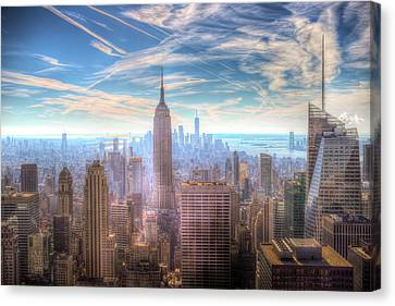 New York Manhattan Skyline Canvas Print