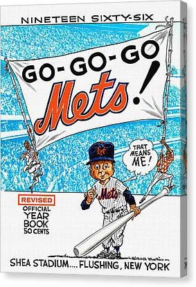 New York Mets 1966 Yearbook Canvas Print
