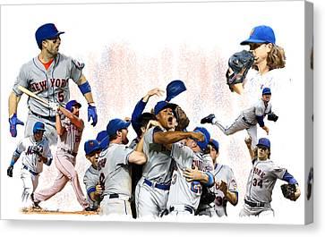 New York Mets 2015  Metropolitan Champions Canvas Print
