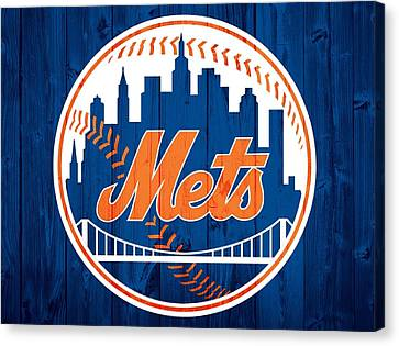 New York Mets Barn Door Canvas Print