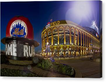 New York Mets Citi Field Stadium Canvas Print by Susan Candelario