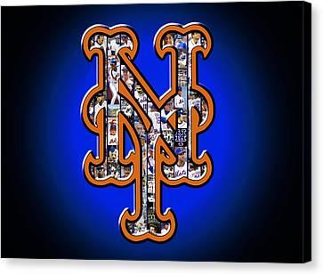 New York Mets Canvas Print by Fairchild Art Studio