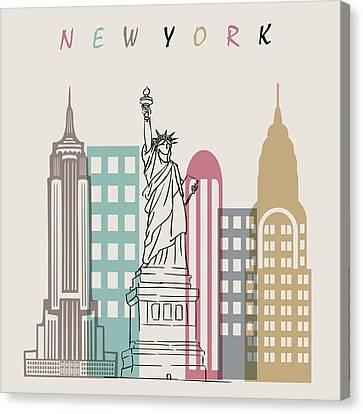 New York  Minimal  Canvas Print by Mark Ashkenazi
