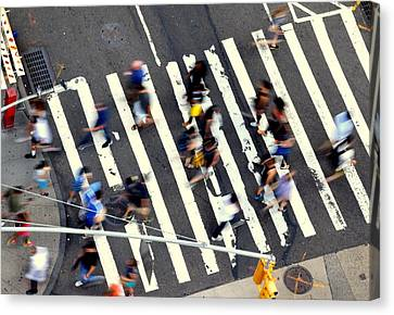 New York Minute Canvas Print by David Gilbert