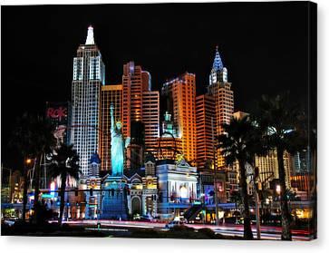 New York New York Hotel And Casino Canvas Print by Eddie Yerkish