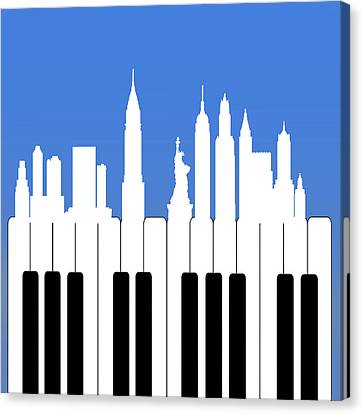Piano Canvas Print - New York New York by Mark Ashkenazi