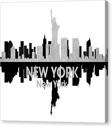 New York Ny 4 Squared Canvas Print by Angelina Vick