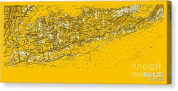 New York Old Map 1954 Canvas Print by Pablo Franchi