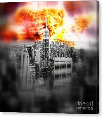 Constellations Canvas Print - New York On Fire by Johari Smith