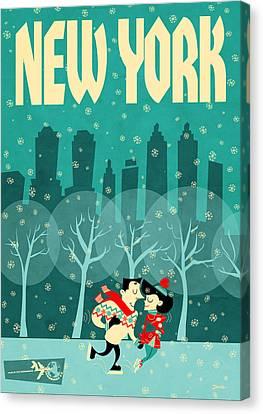 Nyc Canvas Print - New York by Daviz Industries