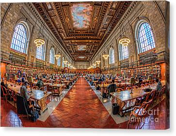 New York Public Library Main Reading Room I Canvas Print by Clarence Holmes
